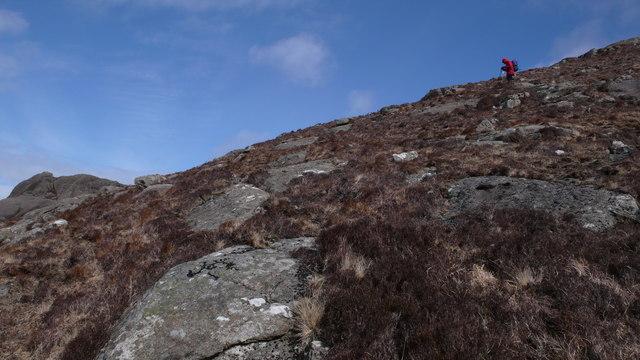 Descending Beinn na Seilg