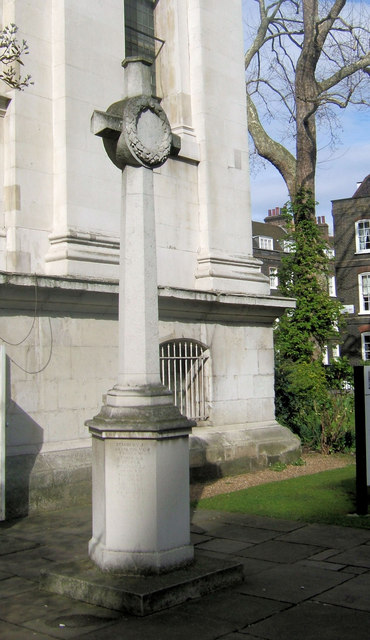 St John's Parish War Memorial, Smith Square, Westminster, London SW1