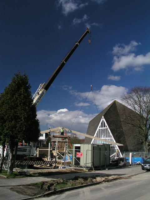 Construction of St Johns Church Hall