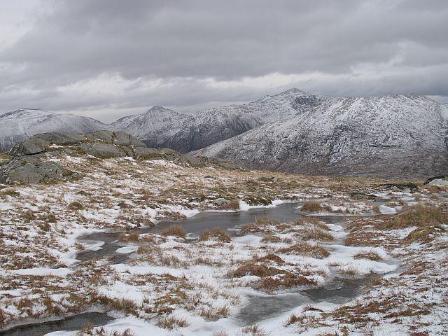 Frozen bogs near the summit of An Grianan