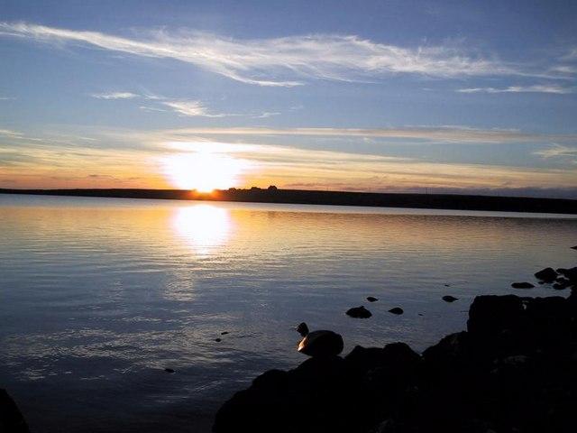 Looking across Loch Urrahag to Arnol