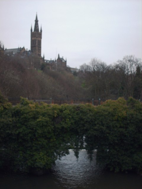 Glasgow University and The River Kelvin