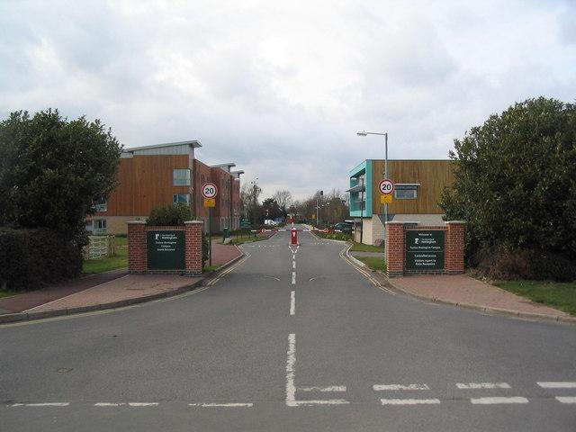 Entrance to the University of Nottingham's Sutton Bonington campus