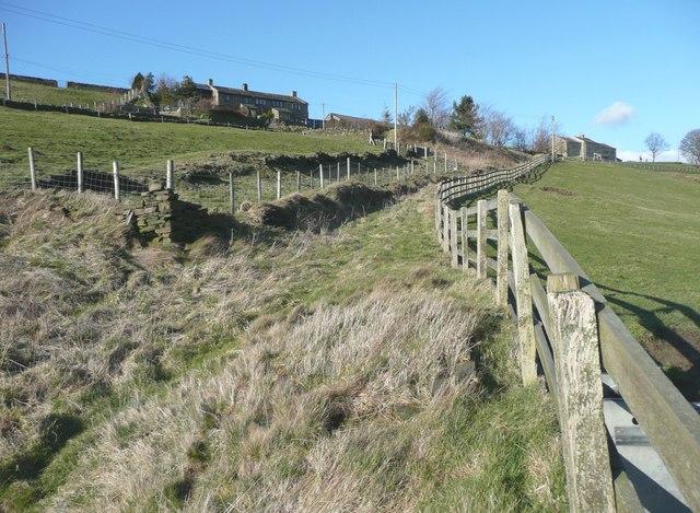 Disused lane, Bunkers Hill, Slaithwaite