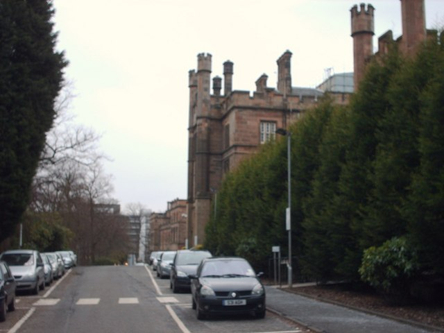 Road next to The Old Hospital