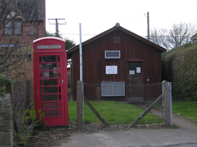 Old Telephone Exchange & an old fashioned phonebox
