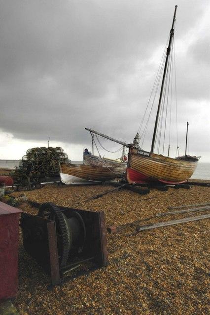 Fishing Boats on Deal Beach, Kent 2