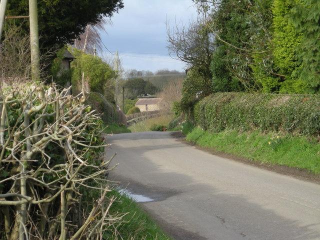 The lane through Kenley