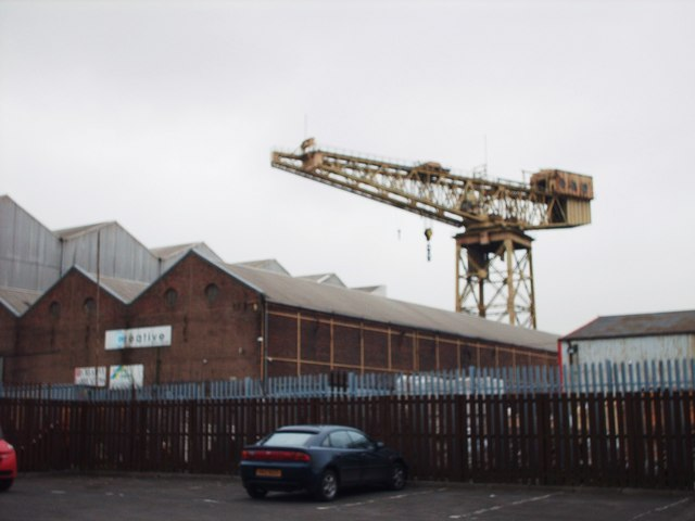 View of Barclay, Curle and Co. Crane
