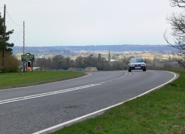 North along the A444 Atherstone Road