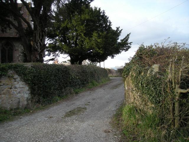 Footpath past the church