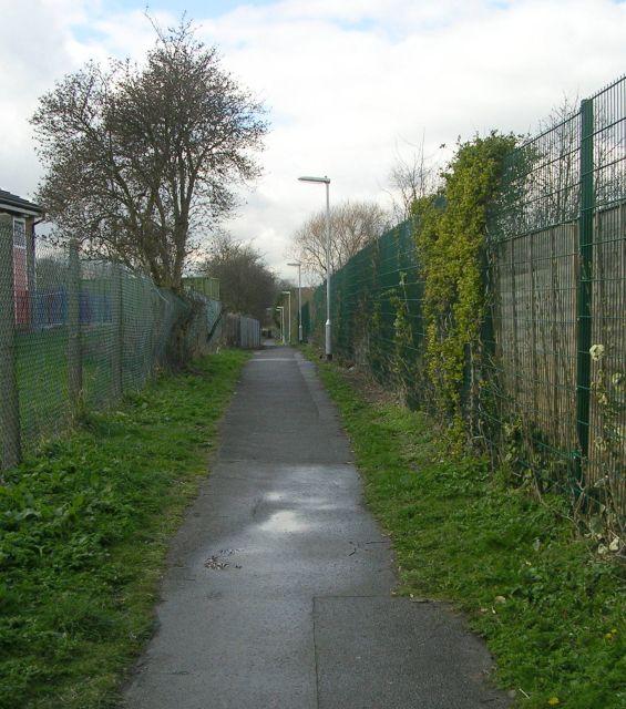 Footpath from Gibson Lane to Church - Kippax