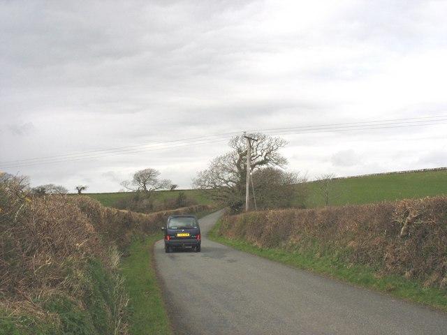Country road linking Bethel and Y Felinheli (Portdinorwig)
