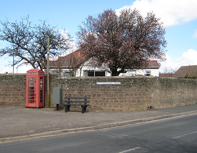 Phonebox at the end of Littledean Hill Road