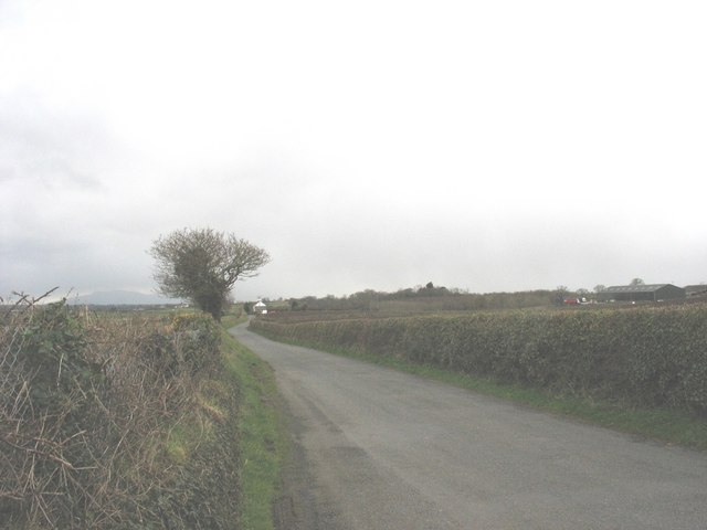 Minor road leading towards Crug House junction