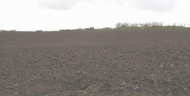 Newly ploughed field at Bryn Farm