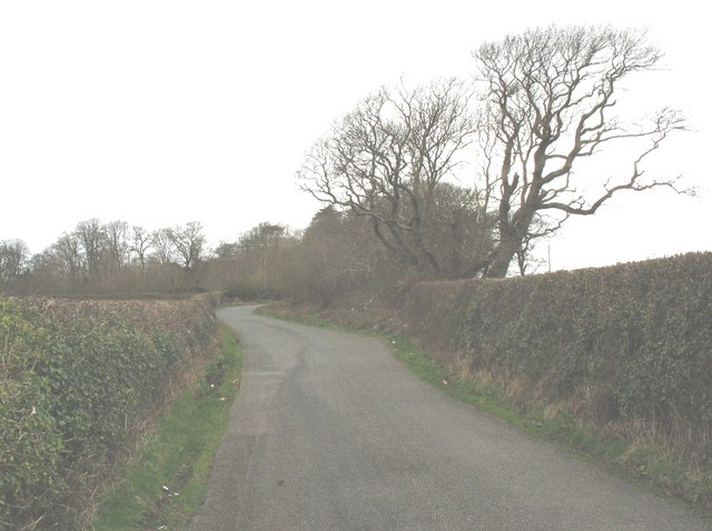 The last bend before Crug House