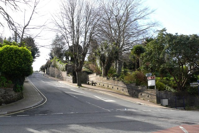 Church Hill at the junction with St Brannocks Road and Station Road