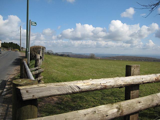 Hillside footpath from Littledean Hill Road