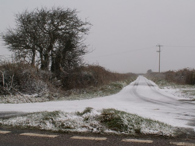 A short road near Hore Down leading to the junction on the B3230 known as Iron Letters Cross