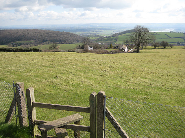 A view, with stile