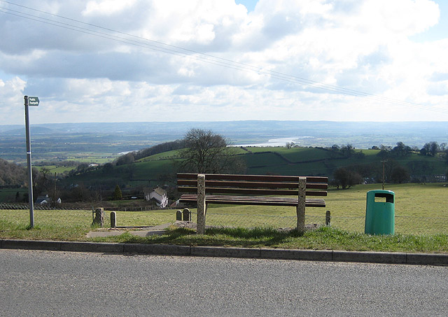 Seat with a view of the Severn