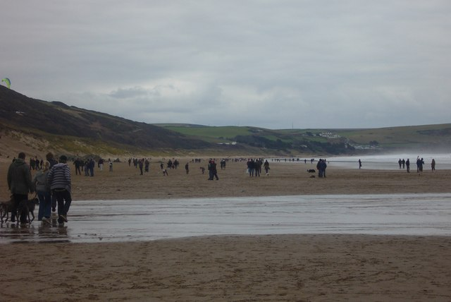 Putsborough sands on New Years Day
