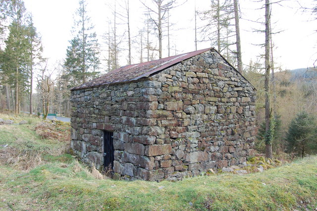 Old stone barn on the approach road to Coed y Brenin visitor centre