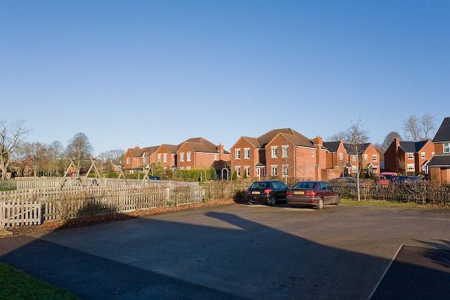 Part of The Sawmills housing estate