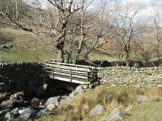 Footbridge on Caiston Beck