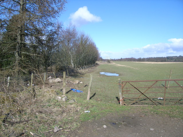 Field near junction of M9
