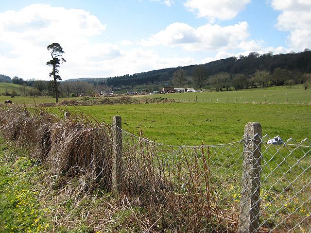 Farm across the recreation ground, Littledean