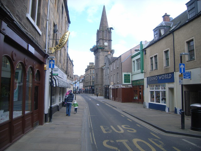 Looking east along old High Street