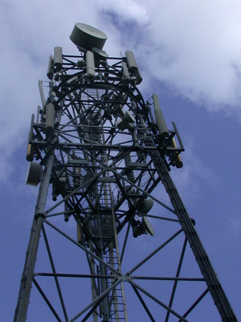 Radio mast close-up
