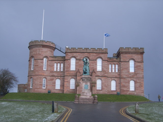 Inverness Castle (with snow coming in)