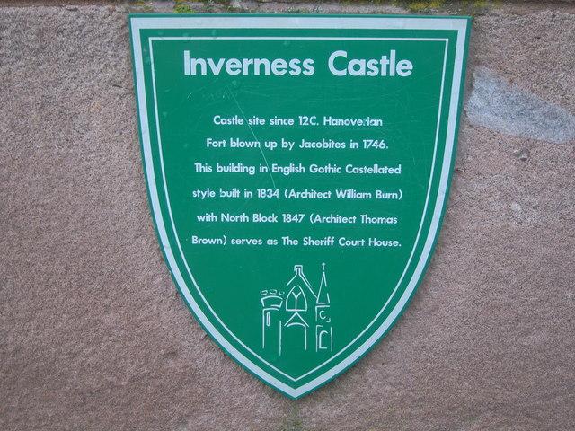 Inverness Castle sign