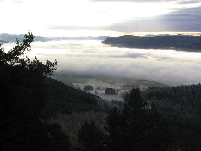 Mist in the Tummel valley