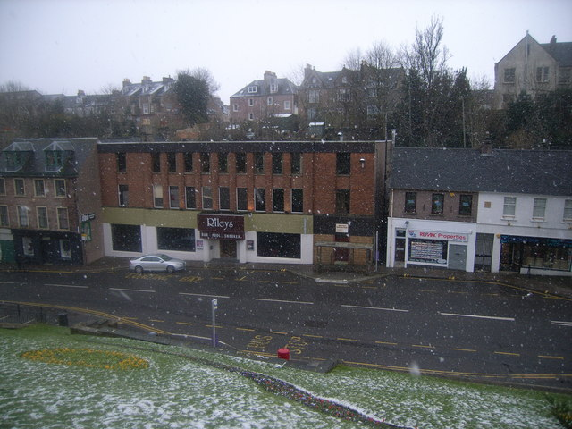 Snowing in Castle Street, Inverness