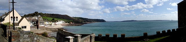 Cawsand - Panoramic view eastwards