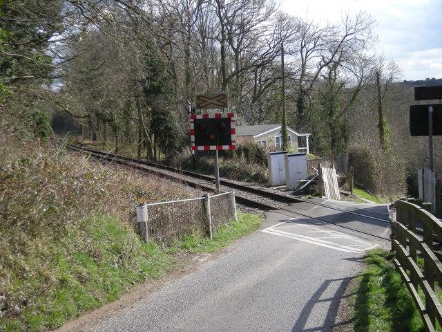Level crossing at Northwood Halt