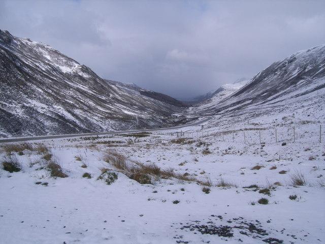 A832 looking towards Loch Maree
