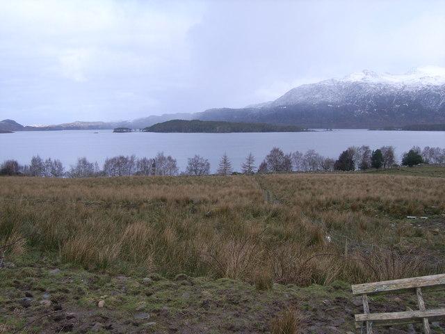 Looking north east across Loch Maree