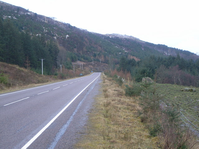 Looking along the A832