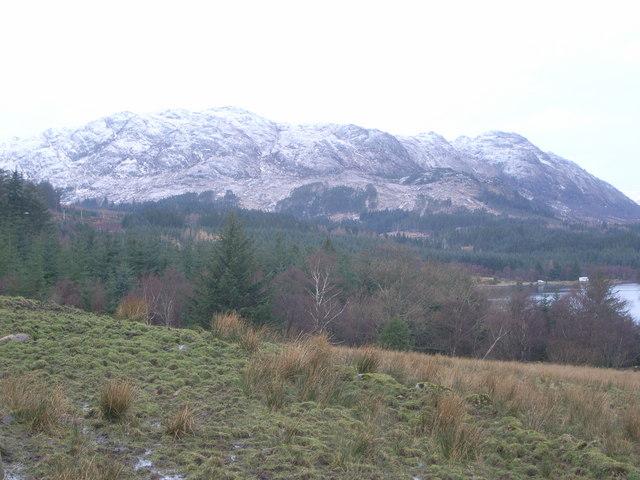 Mountains behind Loch Maree
