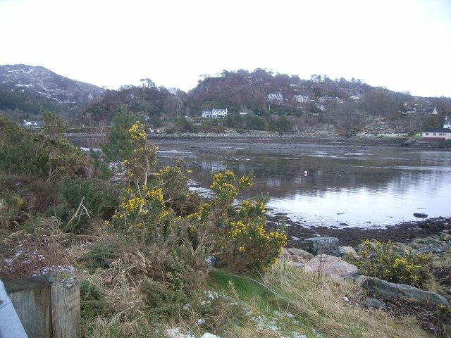 Looking across Gairloch Harbour