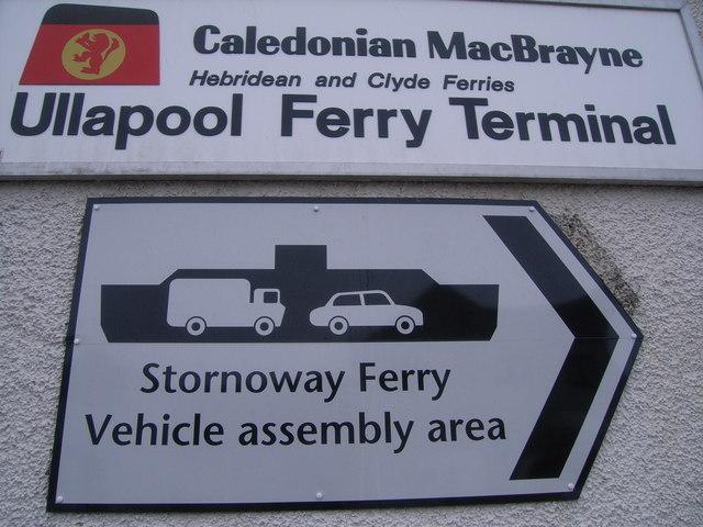 CalMac Ferry Terminal sign