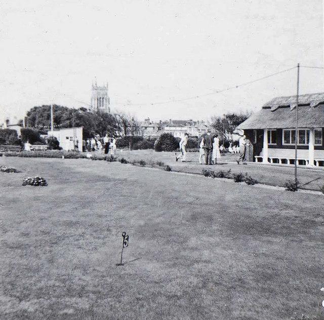 Cromer Putting Green, Norfolk, taken 1961