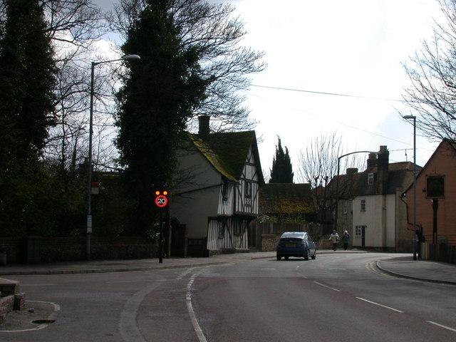 Speed limit sign, High Street