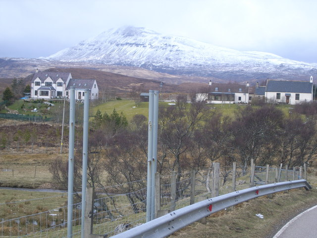 Looking north west from the A835