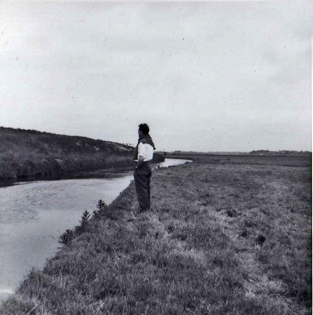 Footpath near Southwold Harbour, Suffolk taken 1962